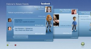 Facebook on Xbox 360 (click to enlarge)