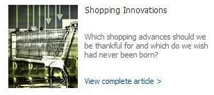 MSN Lifestyle: Shopping Innovations article