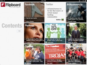 Flipboard Contents 'page' - click to view gallery of Flipboard images
