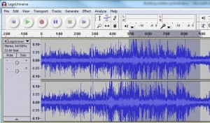 Selecting audio in Audacity